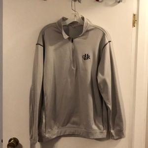 Nike golf gray half zip